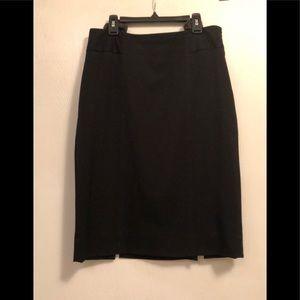 WHBM black lined skirt